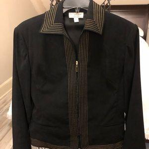 St. John jacket black with gold trim